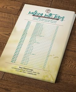 Walking with Jesus, Bible Reading Schedule
