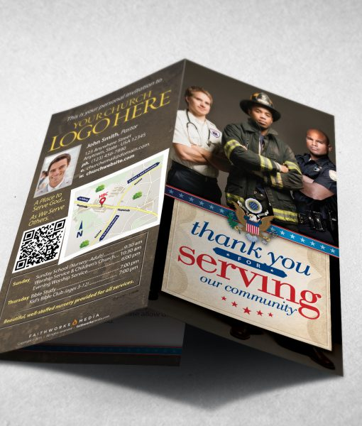 Tract - Thank You for Serving Our Community - First Responders