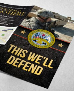 Tract - US Army This We'll Defend - Soldier - Black