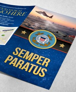 Tract - US Coast Guard Semper Paratus - Blue