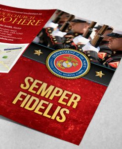 US Marine Corps Semper Fidelis drill team - Red