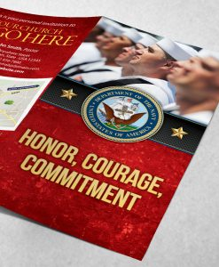 Tract - US Navy Honor Courage Commitment - Formation - Red