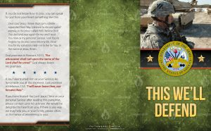 Tract - US Army This Well Defend soldier profile FLAT OUTSIDE