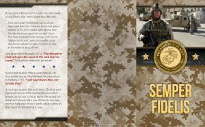 Tract - US Marine Corps Semper Fidelis FLAT OUTSIDE
