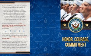 Tract - US Navy Honor, Courage, Commitment formation FLAT OUTSIDE